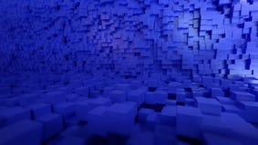blått 3d skära i tärningar bakgrund, tolkningen 3d vektor illustrationer