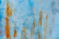 Blått damm och skrapade texturerade bakgrunder med spac Royaltyfri Bild