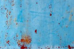 Blått damm och skrapade texturerade bakgrunder med utrymme Arkivfoton