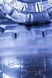 blått datorplanet Royaltyfria Foton