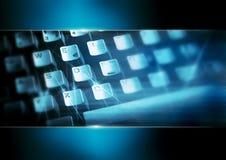 blått datortangentbord Royaltyfria Bilder