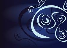 blått dekorativt för bakgrund Fotografering för Bildbyråer