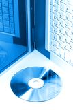 blått digitalt Royaltyfri Bild