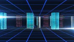 blått digitalt för abstrakt bakgrund Royaltyfri Fotografi