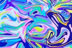 Blått digitalt marmorera för elkraft Abstrakt begrepp marmorerad bakgrund Holographic abstrakt modell royaltyfri illustrationer