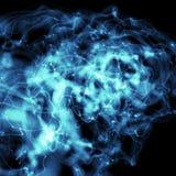 blått dimmigt för abstrakt bakgrund Fotografering för Bildbyråer