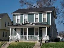 Blått dubbelsidigt hus arkivfoto