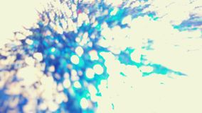 Blått EDM-vatten som Bokeh tänder i många olikt, ljust, och pr royaltyfria foton