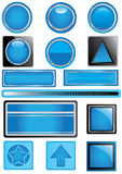 blått eps-etiketttema stock illustrationer