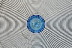 Blått exponeringsglas Arkivbild