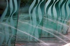 blått exponeringsglas arkivbilder
