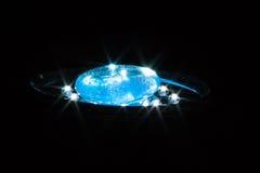 Blått exponeringsglas på lampan Arkivfoton