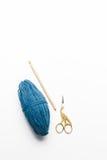 Blått färga garn Royaltyfri Foto