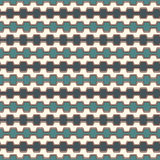 Blått färgar den sömlösa modellen med muren med tinnar buktade linjer Upprepade geometriska diagram tapet Modern yttersida Arkivbilder