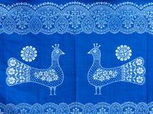 Blått-färgat tyg Royaltyfri Fotografi