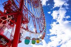 blått färgrikt ferrisskyhjul Royaltyfri Bild