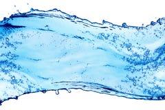 blått färgstänkvatten Royaltyfri Foto