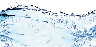 blått färgstänkvatten Arkivbilder