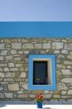 blått fönster Arkivbilder