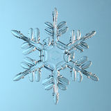 Blått för crystal naturlig abstrakt bakgrund för snöflinga härliga Royaltyfria Foton
