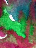 Blått för havet för världen för abstrakt begrepp för vattenfärgkonstbakgrund slår undervattens- texturerad suddig fantasi för våt Royaltyfri Bild