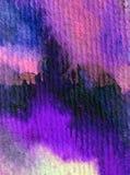 Blått för havet för världen för abstrakt begrepp för vattenfärgkonstbakgrund slår undervattens- texturerad suddig fantasi för våt Royaltyfri Fotografi
