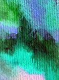 Blått för havet för världen för abstrakt begrepp för vattenfärgkonstbakgrund slår undervattens- texturerad suddig fantasi för våt Arkivbilder