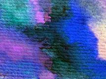 Blått för havet för världen för abstrakt begrepp för vattenfärgkonstbakgrund slår undervattens- texturerad suddig fantasi för våt Royaltyfria Foton