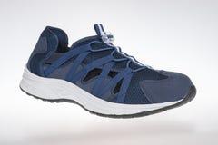 Blått för skor för man` s Royaltyfri Foto