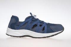 Blått för skor för man` s Arkivfoton