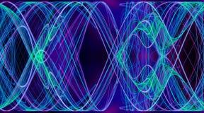 Blått för spindelnätaktivitetabstrakt begrepp färgar symmetrisk virvel Arkivfoto