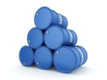 blått för tolkningen 3D barrels Viagra Royaltyfri Fotografi