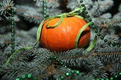 Blått för träd för ` s för nytt år härliga med julgarnering royaltyfri foto