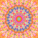 Blått för violet för orange guling för blom- prydnad för stamgästabstrakt begrepprunda rosa Fotografering för Bildbyråer