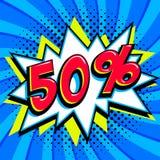 Blått försäljningsrengöringsdukbaner Baner för befordran för rabatt för försäljning för popkonst komiskt stor försäljning för bak Arkivfoto