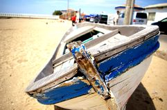 blått fartyg Royaltyfria Foton