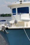 blått fartyg Royaltyfria Bilder
