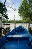 blått fartyg Fotografering för Bildbyråer