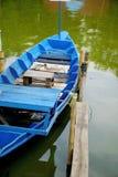 blått fartyg Royaltyfri Bild