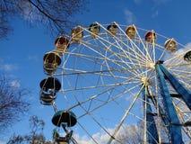 blått ferrisskyhjul Royaltyfri Fotografi