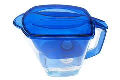 blått filtervatten Arkivfoton
