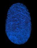 blått fingeravtryck Arkivfoton
