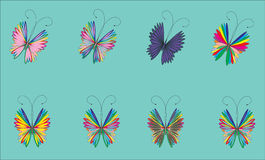 blått fjärilsflyg för bakgrund Fotografering för Bildbyråer