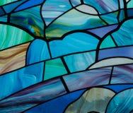 Blått fläckexponeringsglas Arkivbilder
