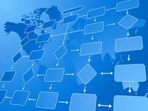 blått flöde för affärsdiagram Royaltyfri Bild