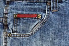 blått främre jeansfack Royaltyfri Bild