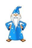 Blått gammalt trollkarltecken Royaltyfri Fotografi