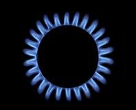 Blått gasar flammar Royaltyfri Bild