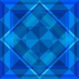 blått geometriskt för bakgrund Arkivfoto