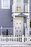 blått georgian hus Arkivbilder